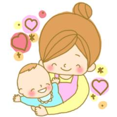 子育てママの愛情スタンプ